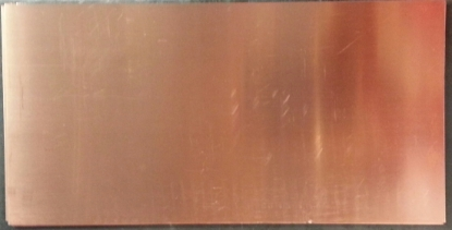 "Picture of Copper Sheet 18 Gauge 5"" x 8"""