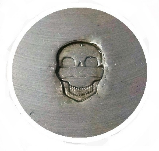 Picture of Impression Die Grinning Skull