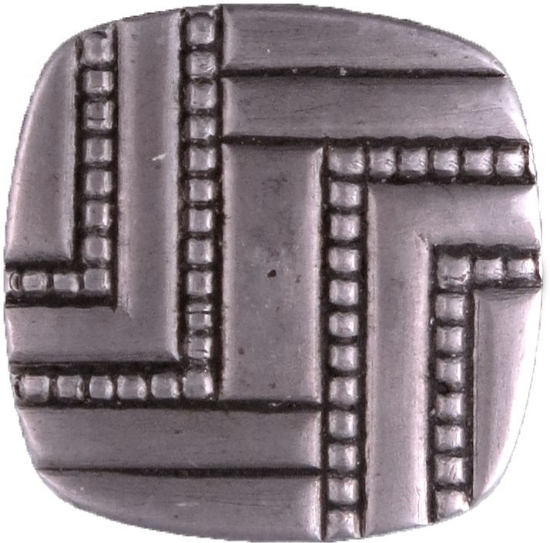 Picture of Impression Die Square Carved Button