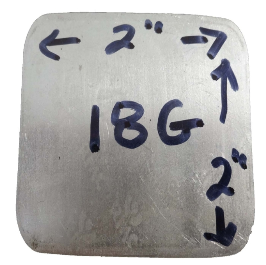 Picture of 18 Gauge Fine Silver Sheet