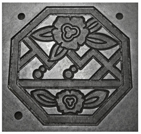 Picture of Enamel Stamping Flowery Octogon