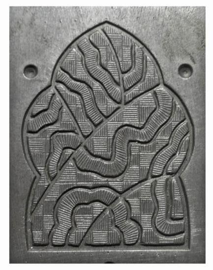 Picture of Enamel Stamping Wavy Checkered Door