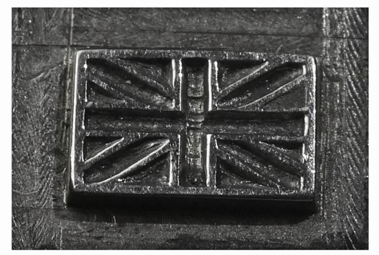 Picture of Shot Plate English Flag