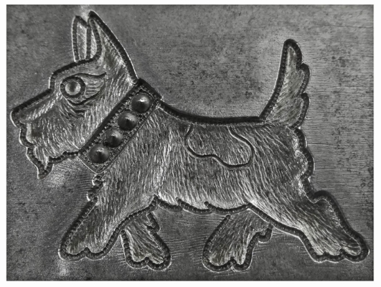 Picture of Enamel Stamping Schnauzer