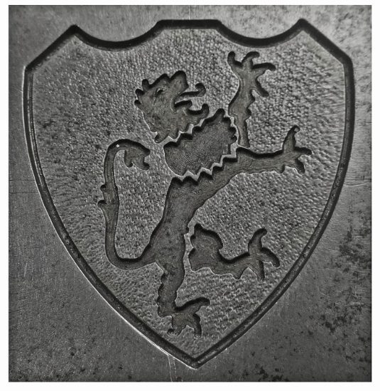 Picture of Enamel Stamping Lionheart Shield