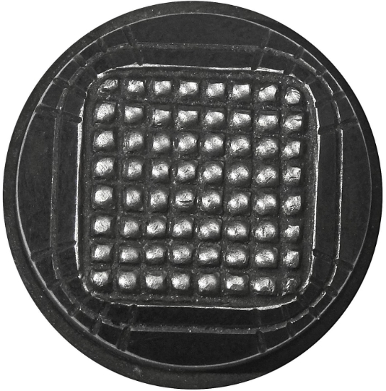 Picture of Impression Die Textured Square Inside Button