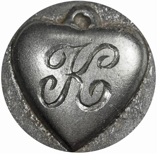 Picture of Impression Die Heart Locket 'K'