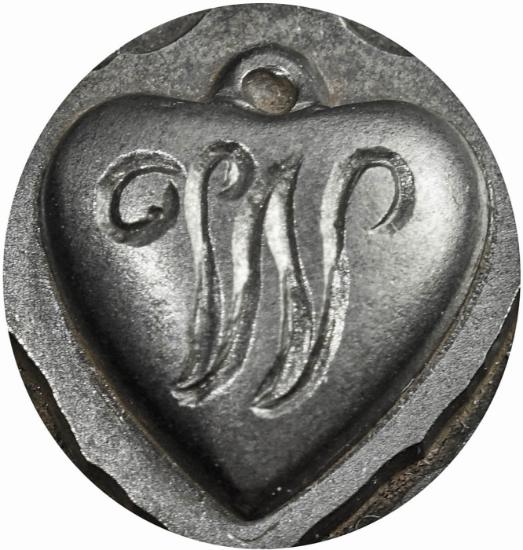 Picture of Impression Die Heart Locket 'W'