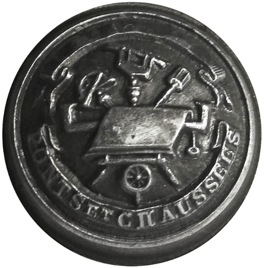 Picture of Impression Die Ponts Et Chaussees Button