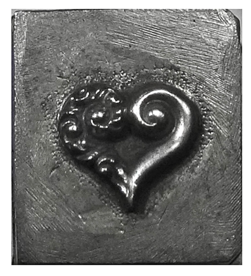 Picture of Shot Plate Half Storm Heart