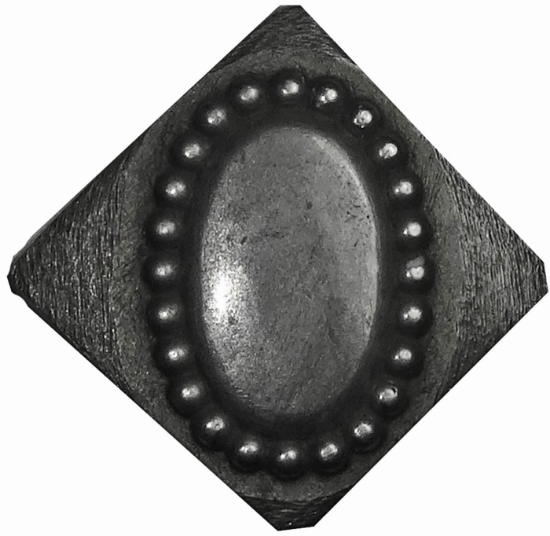 Picture of Impression Die Beaded Elliptical Button