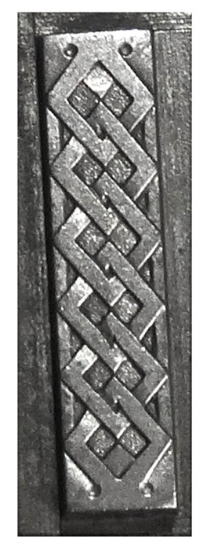 Picture of Impression Die Chained Diamond Bar