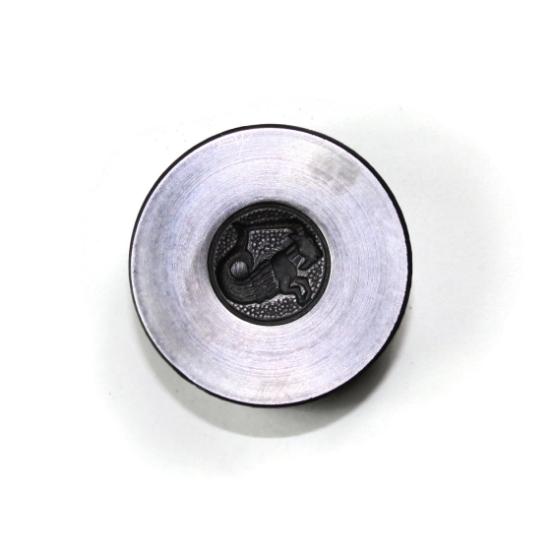 Picture of Capricorn Zodiac Button Silver Stamping