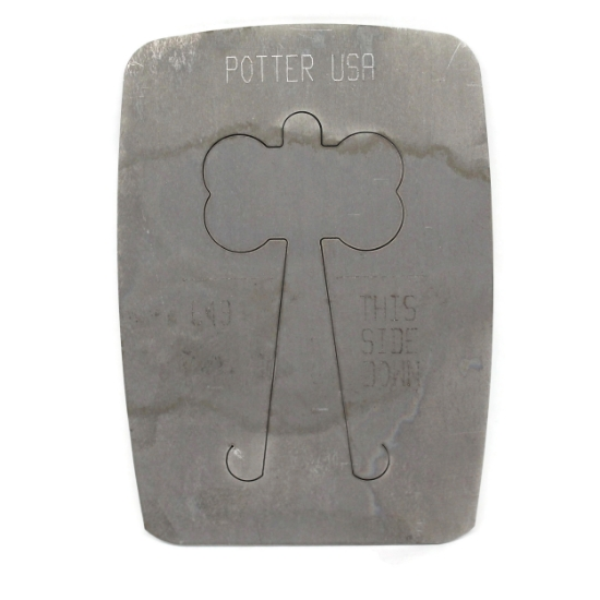 Picture of Pancake Die 649 Large Dog Bone with Hole Tab