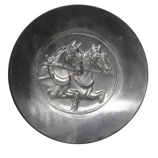 Picture of Twin Horses Silver Stamping