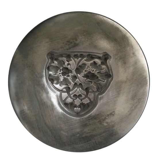 Picture of Floral Nouveau Shield Silver Stamping