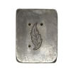 Picture of Small Enamel Leaf  Silver Stamping