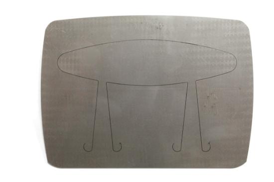 """Picture of Pancake Die Bracelet  B949.1 Wide Taper 6 1/2"""""""