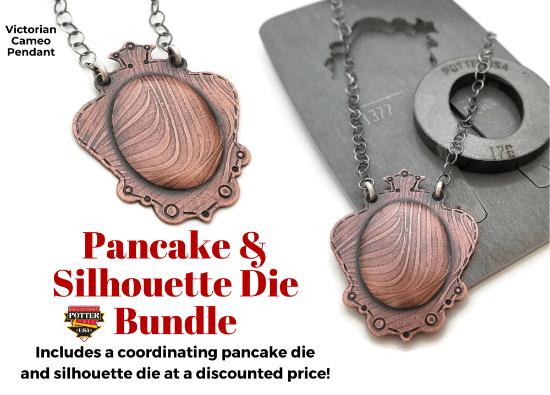 Picture of Pancake & Silhouette Die Bundle: Victorian Cameo Pendant