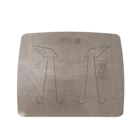 Picture of Pancake Die 1410 Asymmetrical Diamond Earrings