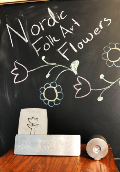 Picture of CLEARANCE Nordic Folk Art Flowers Box - May 2019