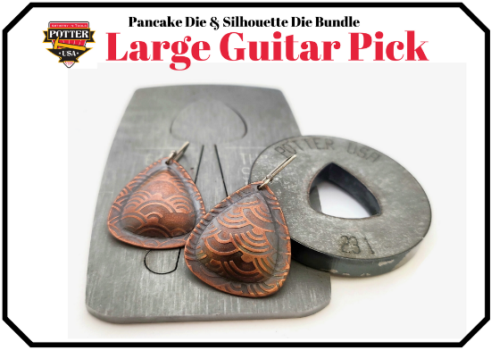 Picture of Pancake & Silhouette Die Bundle: Large Guitar Pick