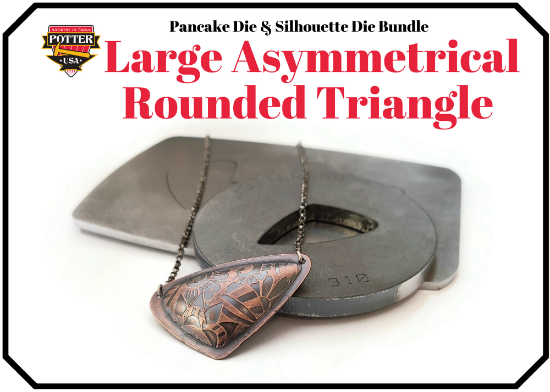 Picture of Pancake & Silhouette Die Bundle: Large Asymmetrical Rounded Triangle