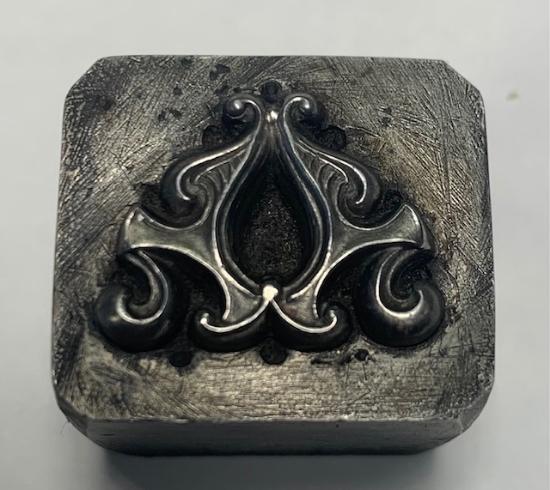 Picture of Impression Die Swirl Art Nouveau Lavalier necklace component
