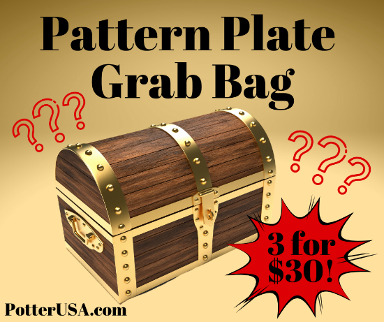 Picture of Blowout! Monthly Box Pattern Plate Grab Bag 3 for $30