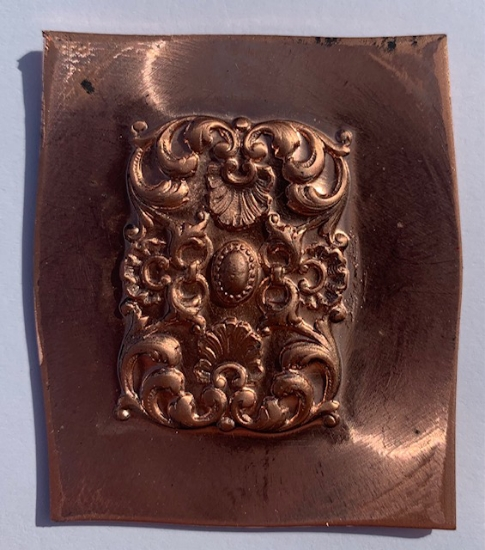 Picture of Copper stamping Flourish Fan Panel Set of 2