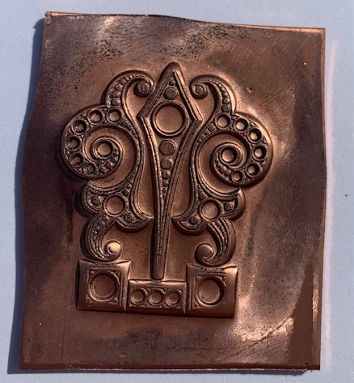 Picture of Copper Stamping Fancy Large Drop Set of 2