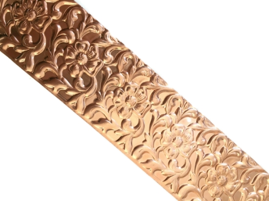 Picture of Floral Web Copper Patterned Sheet
