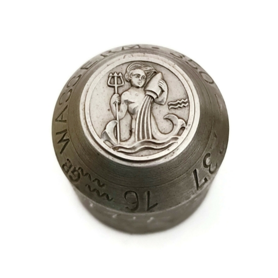 Picture of Impression Die Bas Relief Zodiac Coin-Aquarius