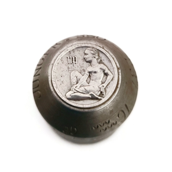 Picture of Impression Die Bas Relief Zodiac Coin-Virgo