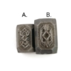 Picture of Impression Die Art Deco Polygon Setting Pair