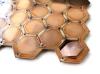 """Picture of Copper Pop-Out Blanks 1"""" Hexagon - 20 Gauge"""